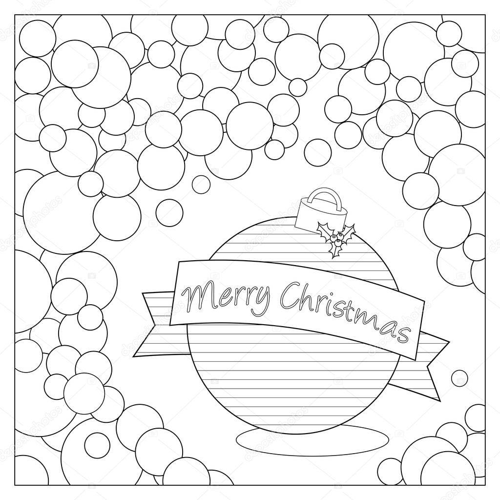 Página para colorear de Navidad bombilla — Foto de stock © smk0473 ...