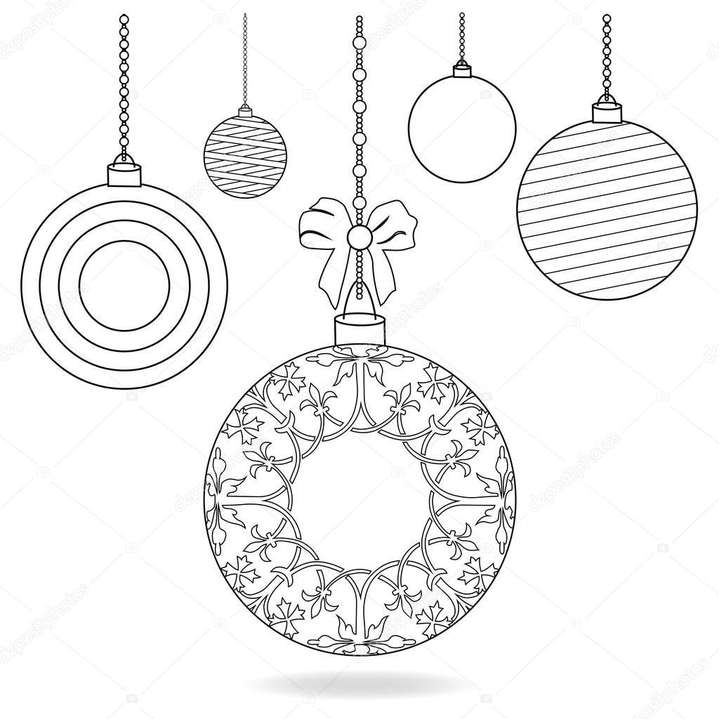 Bombillas De Navidad Para Colorear Página Fotos De Stock
