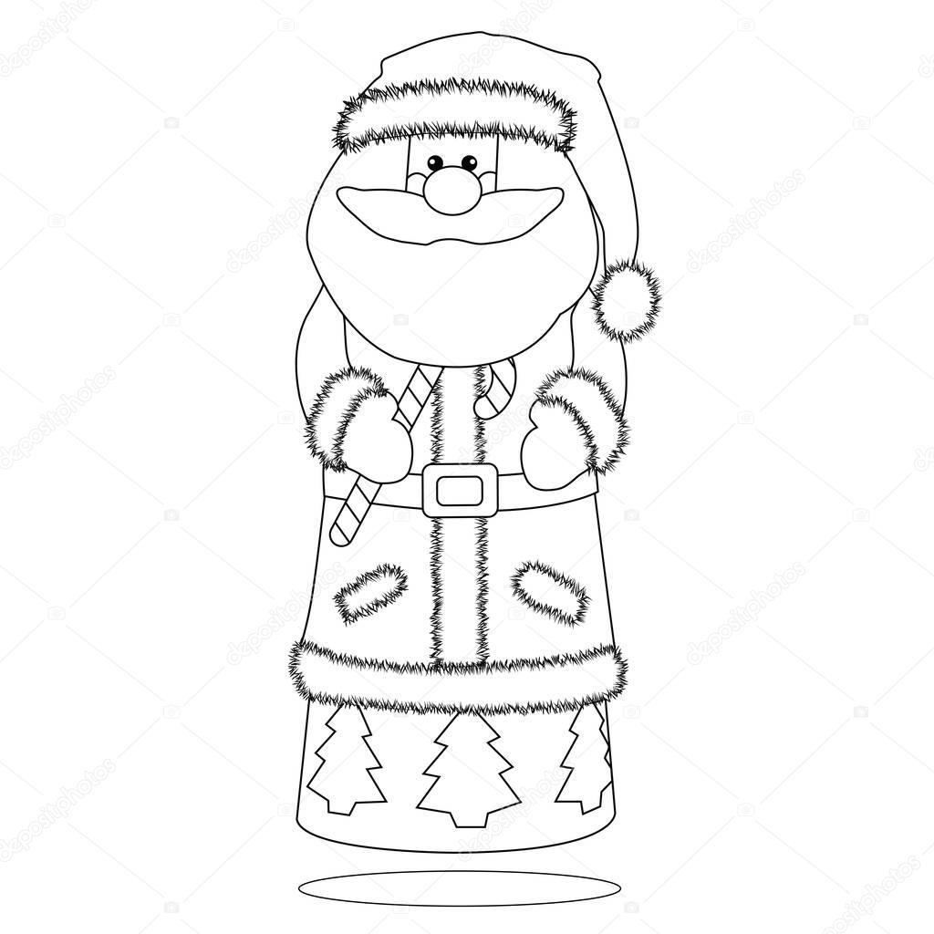 Página para colorear de Navidad de Santa cláusula — Fotos de Stock ...