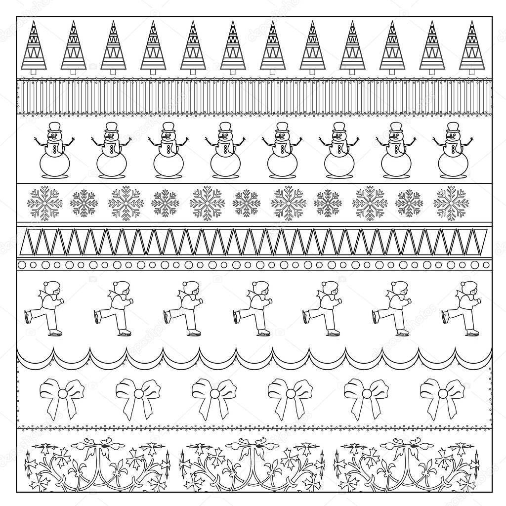 Página para colorear de Navidad papel — Fotos de Stock © smk0473 ...
