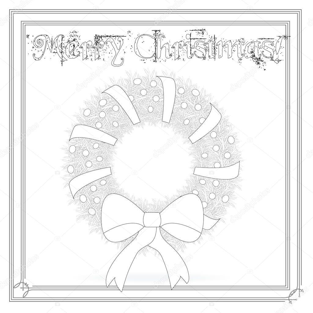 Página para colorear corona de Navidad — Foto de stock © smk0473 ...