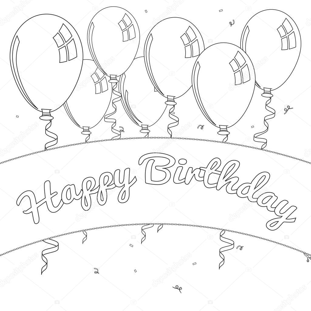 Doğum Günü Boyama Sayfası Stok Foto Smk0473 129158284
