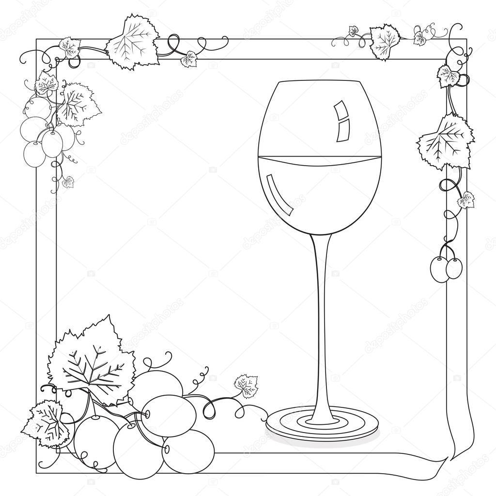 şarap Boyama Sayfası Stok Foto Smk0473 129162148