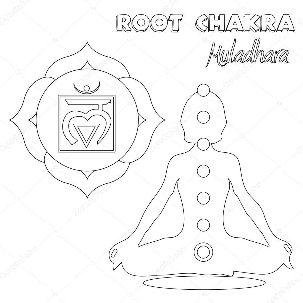 Root Chakra Coloring Page — Stock Photo © smk0473 #129162784