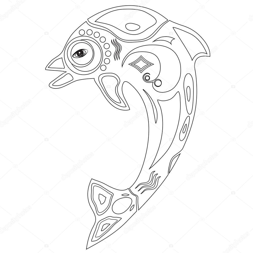 photo about Printable Dolphin Coloring Pages titled Photos: printable dolphin Dolphin Coloring Webpage Inventory