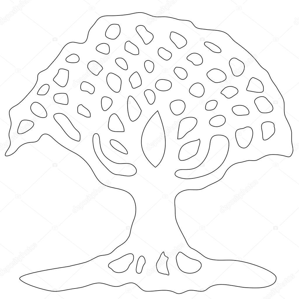 Malvorlagen Baum Des Lebens Stockfoto Smk0473 129235122