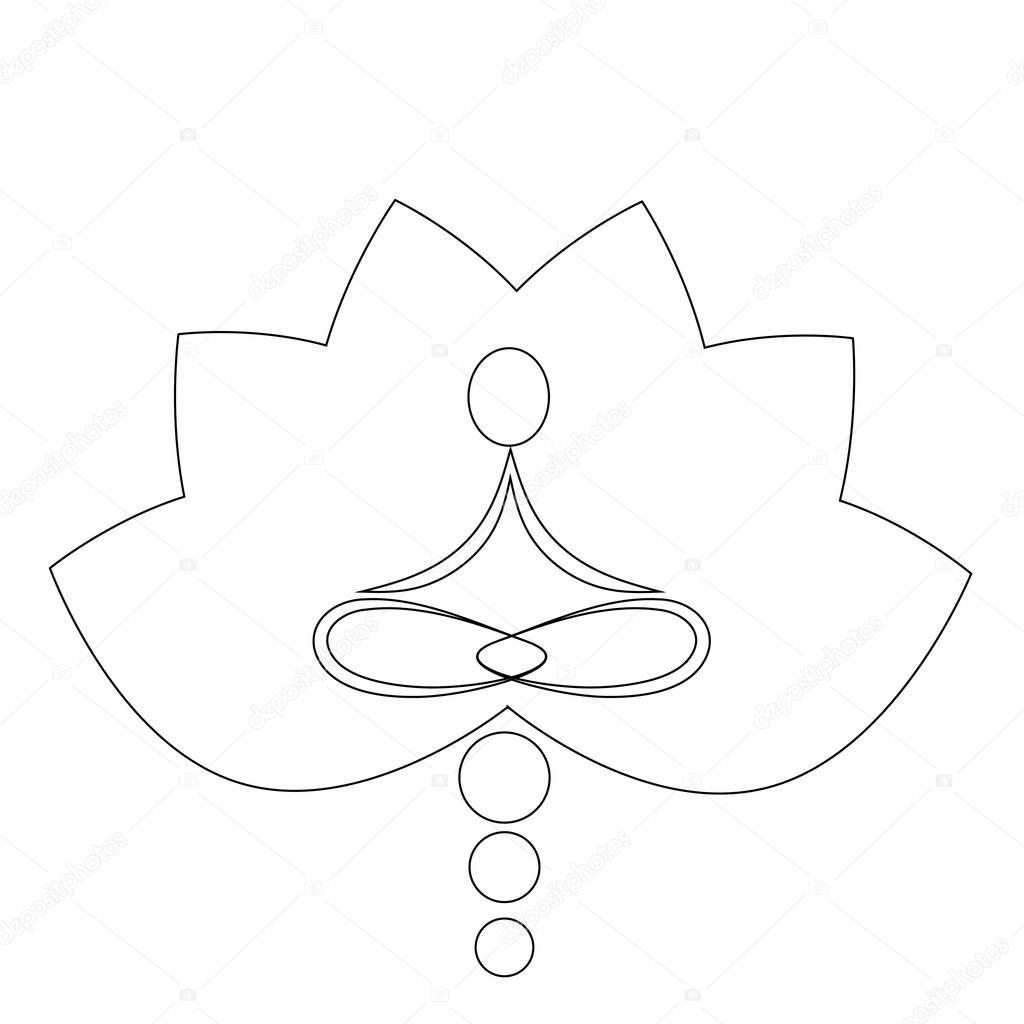 Lotus Flower Coloring Page Stock Photo smk0473 129271360