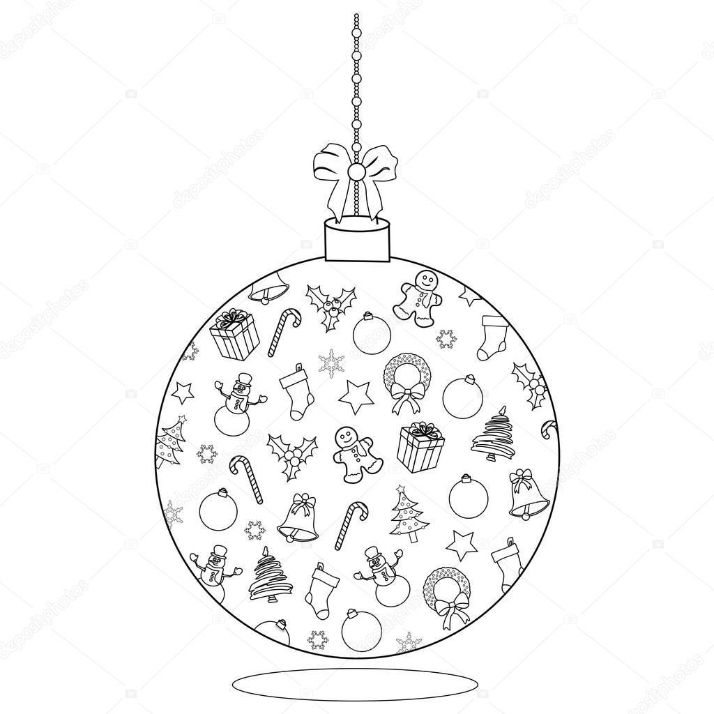 Christmas Bulb Coloring Page — Stock Photo © smk0473 #129557506