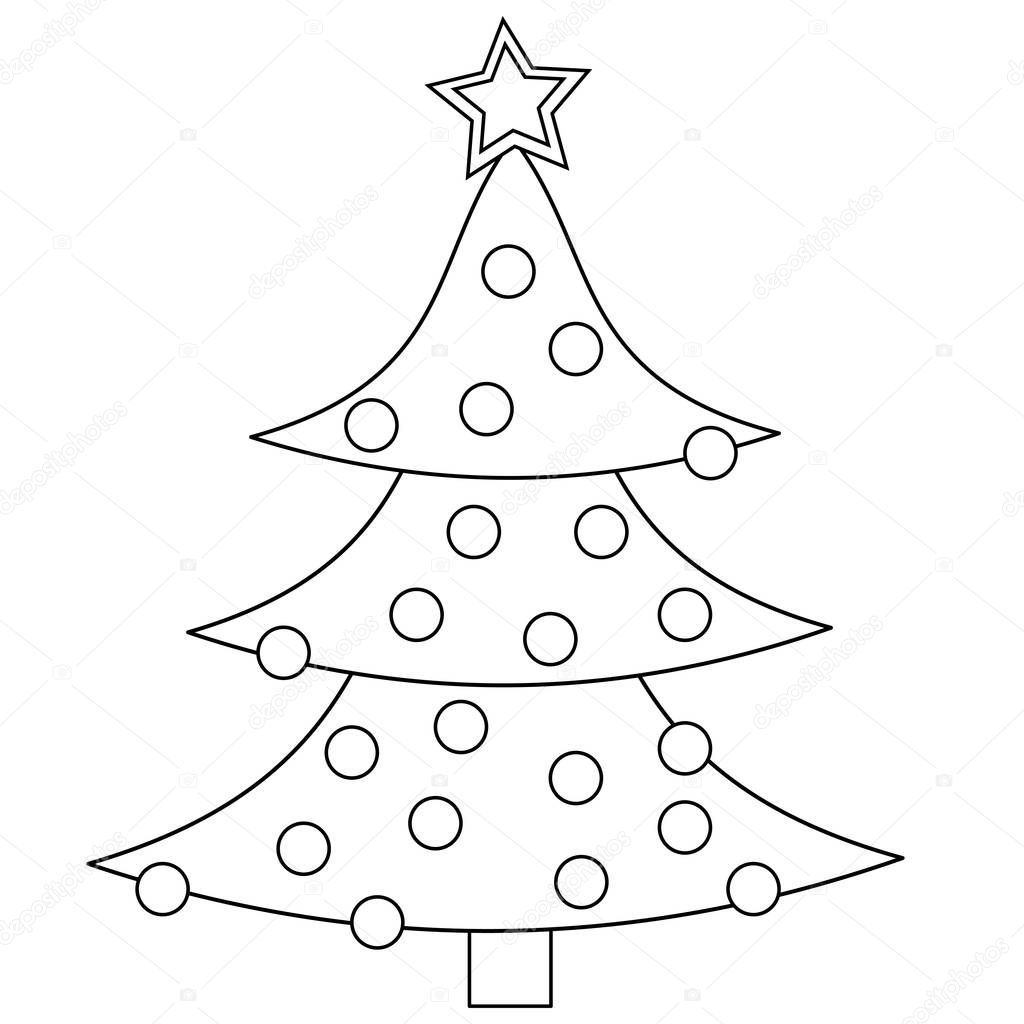 Christmas Tree Coloring Page — Stock Photo © smk0473 #129566092