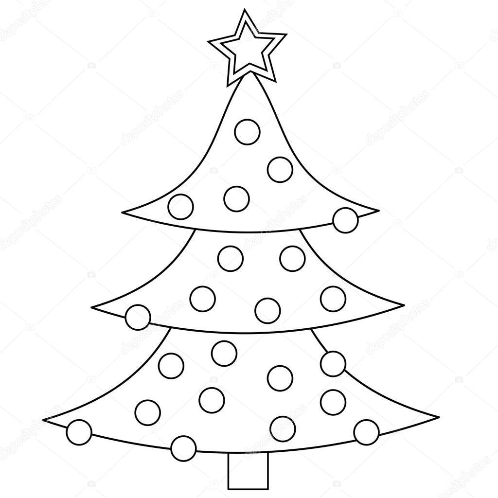 kerstboom kleurplaat stockfoto 169 smk0473 129566092
