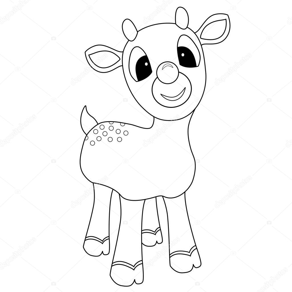 Rudolph Coloring Page — Stock Photo © smk0473 #129596296