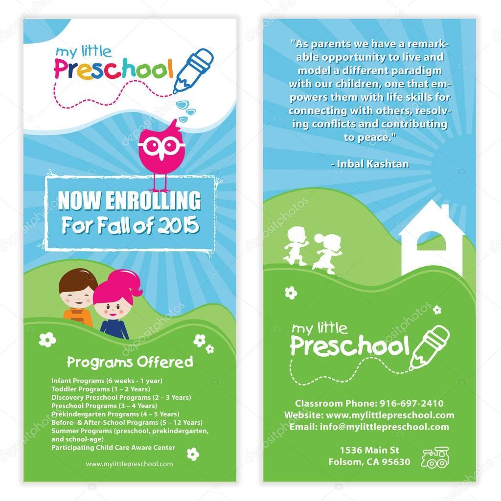 Kids Preschool Flyer Template Vector smk0473 130146630 – Preschool Brochure Template