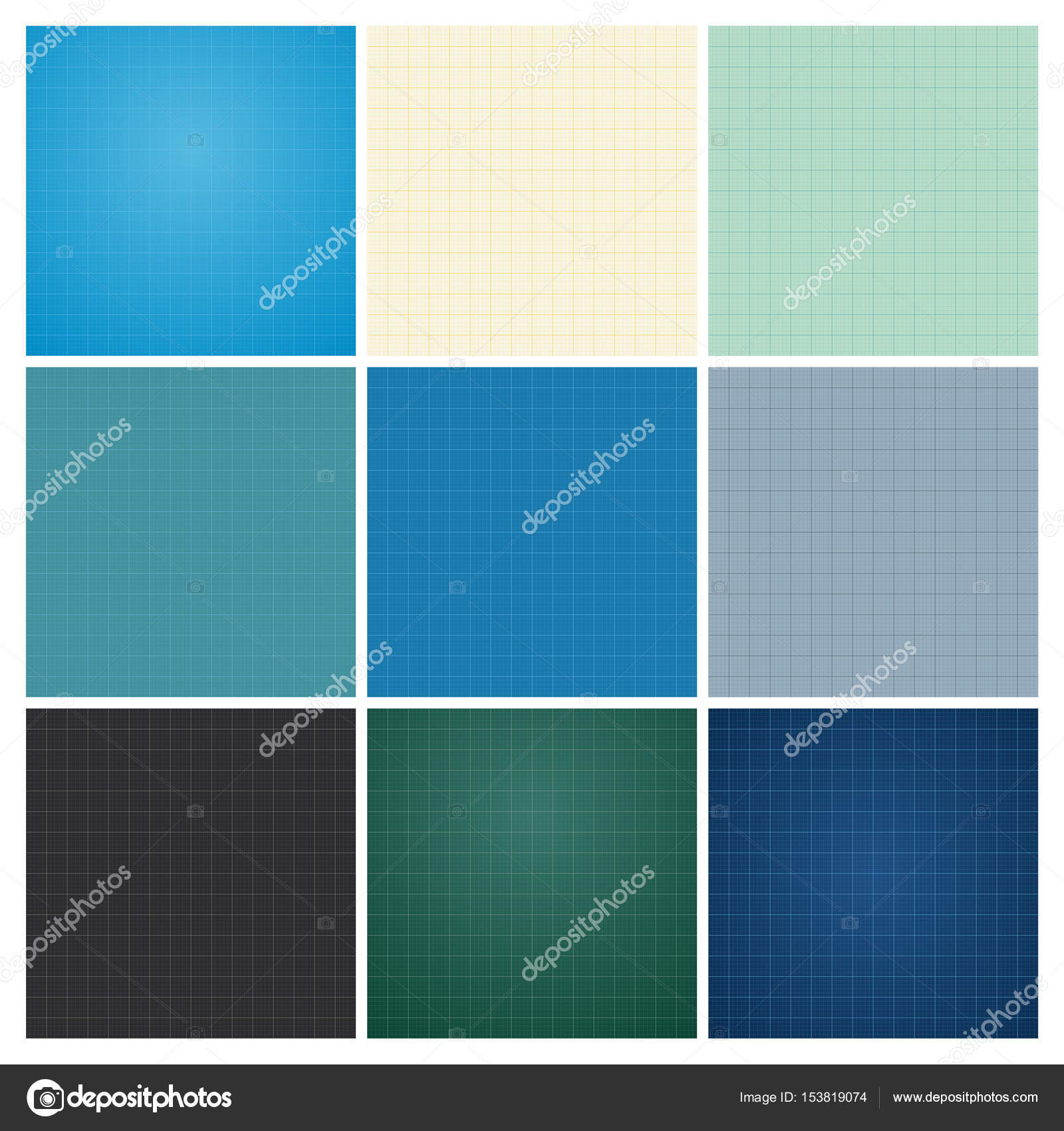 Set of seamless blueprint background stock vector fontgraf set of seamless blueprint background stock vector malvernweather Gallery