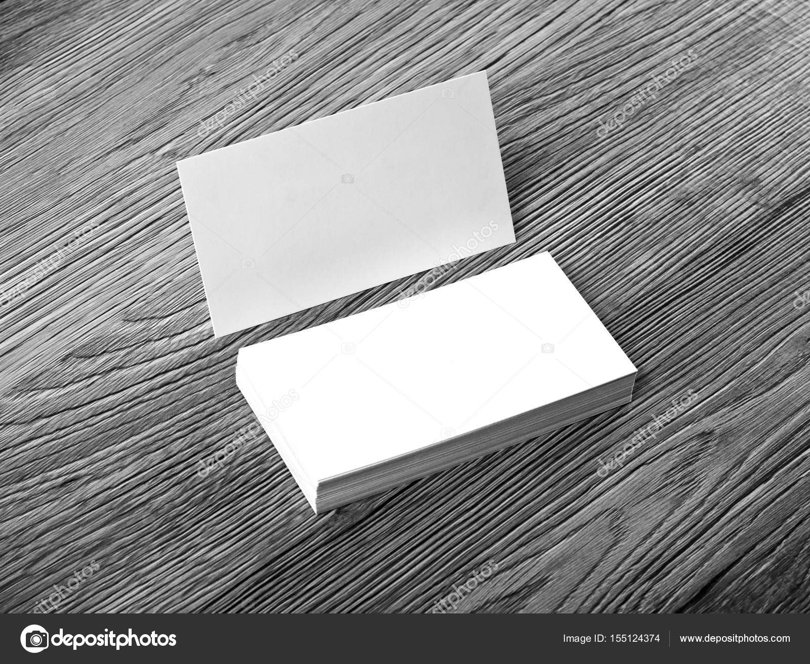 Blank business cards on a wooden background stock photo fontgraf blank business cards on a wooden background stock photo reheart Gallery