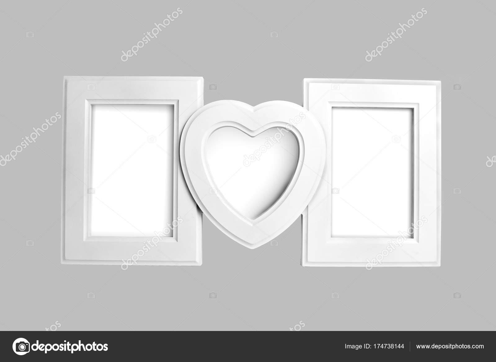 Weiße Holz Bilderrahmen Familie — Stockfoto © fontgraf #174738144