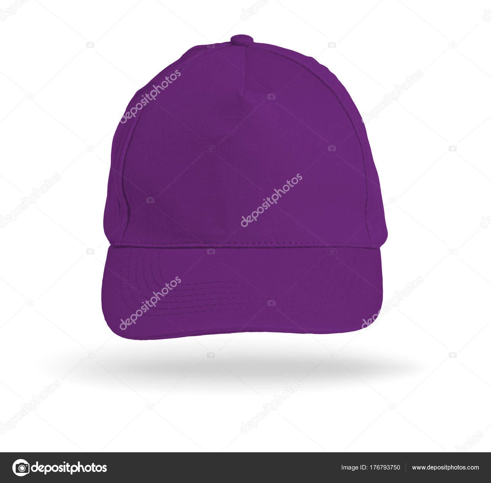 a44012b1f5ce1 Gorra de béisbol color púrpura sobre un fondo blanco — Foto de Stock