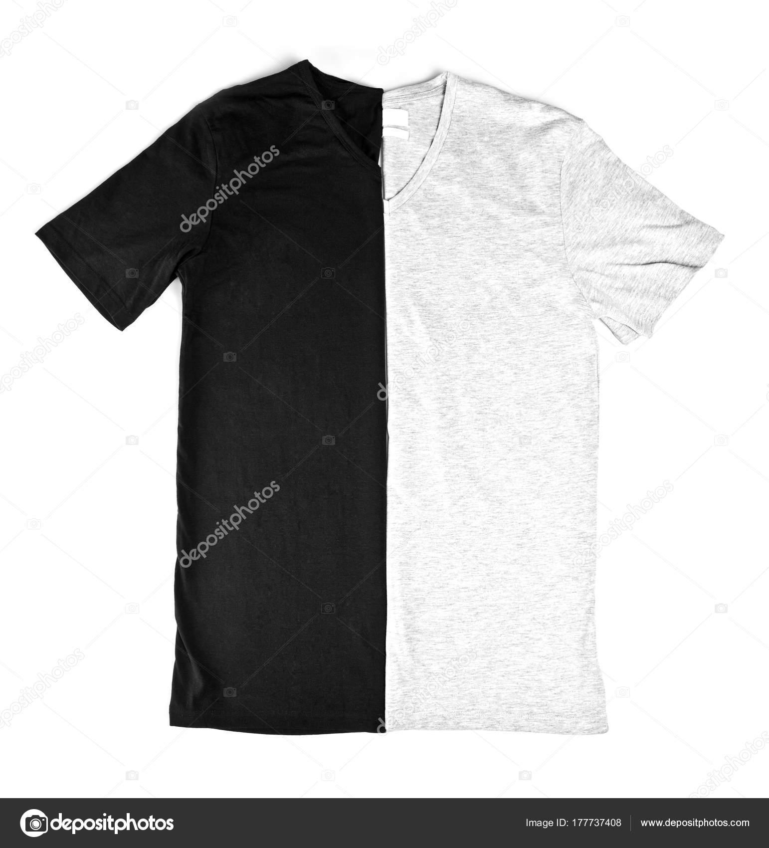 Negro y gris camisetas maqueta 4ac10da4ff1c8