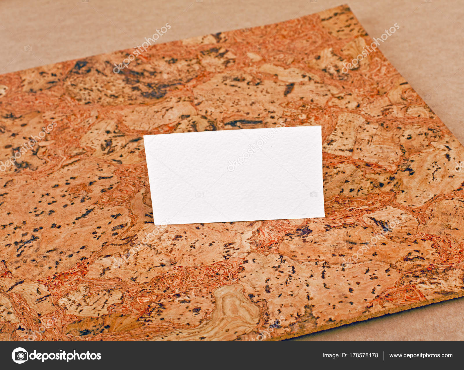 Mockup of white business cards at a cork background — Stock Photo ...
