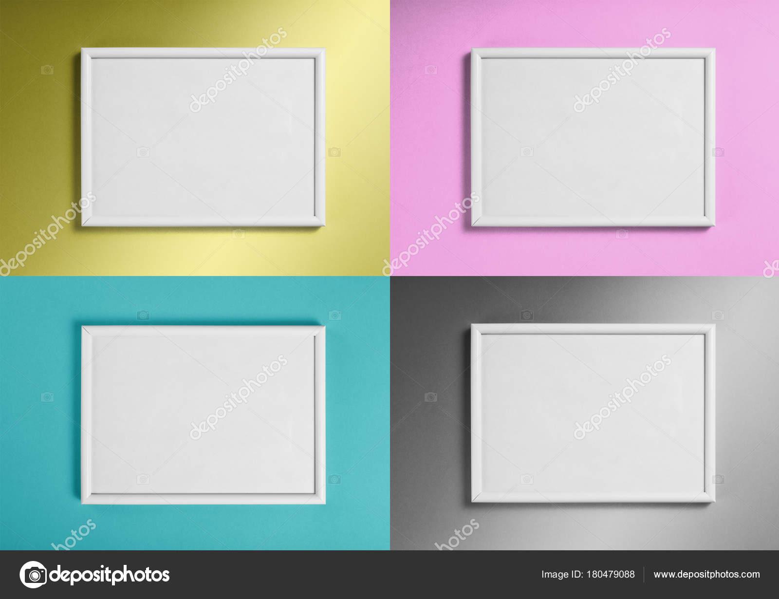 Conjunto De Blanco Marcos Para Cuadros O Fotografias En Diferentes - Cuadros-diferentes