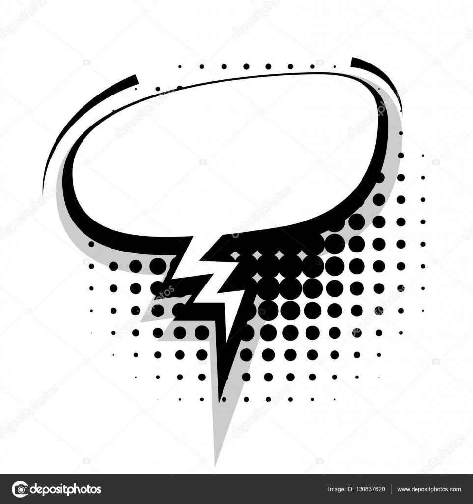 Blank template comic speech oval sudden bubble — Stock Vector ...