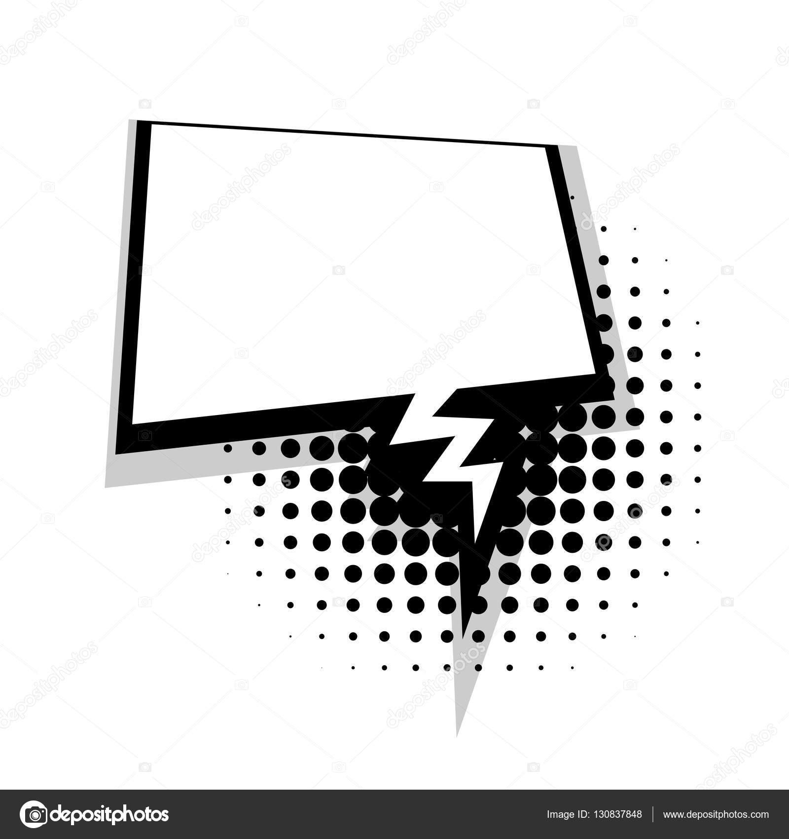 Template comic lightning speech square bubble stock vector blank template comic lightning speech square bubble halftone dot background style pop art comic dialog empty space text style pop art buycottarizona Gallery
