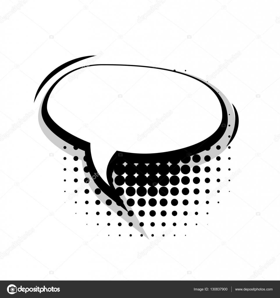 Leere Vorlage Comic-Sprechblase ovalen Linien — Stockvektor © helen ...