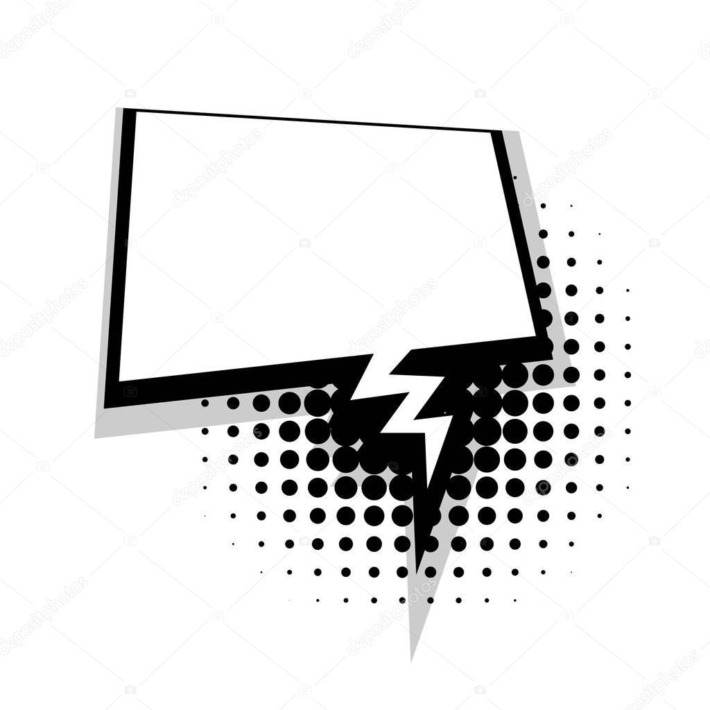bulle carr e de la foudre comique de dialogue mod le image vectorielle 130837848. Black Bedroom Furniture Sets. Home Design Ideas