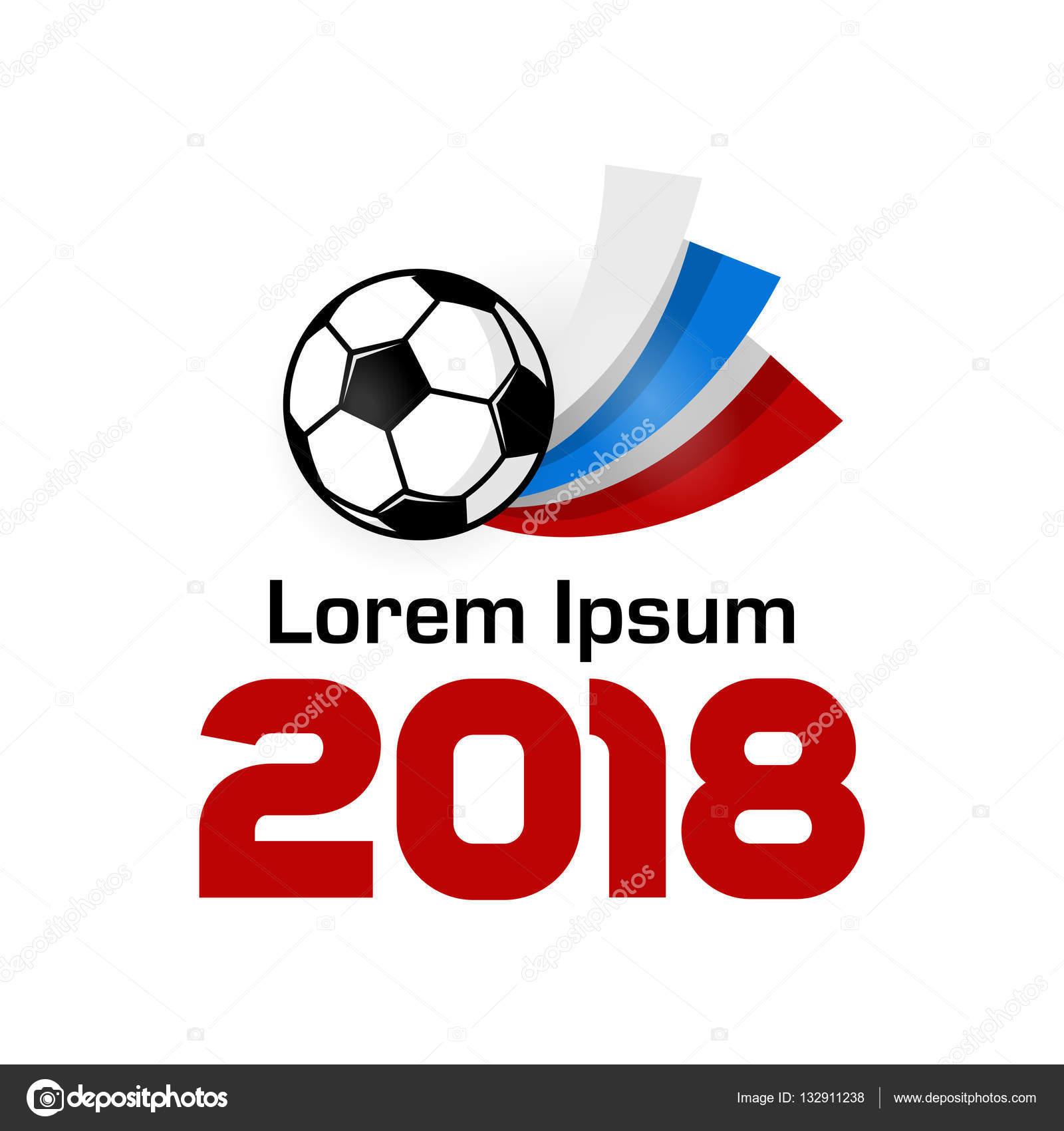 ロゴのフットボール選手権 2018 ストックベクター helen tosh 132911238