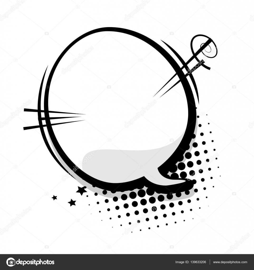 Empty template comic speech bubble — Stock Vector © helen.tosh ...