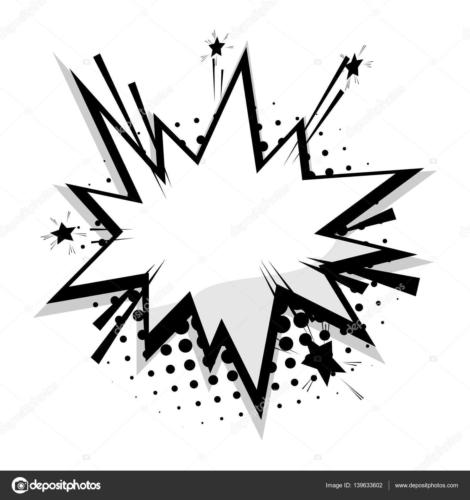 Leere Vorlage Comic-Sterne Sprechblase — Stockvektor © helen.tosh ...