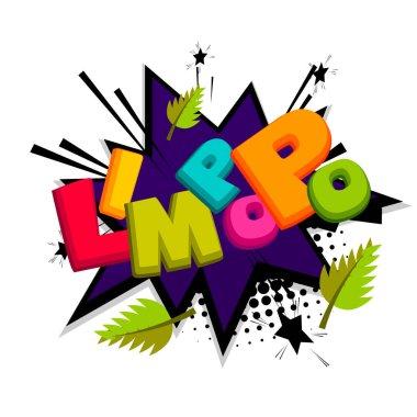 Lettering funny prank comic font Limpopo