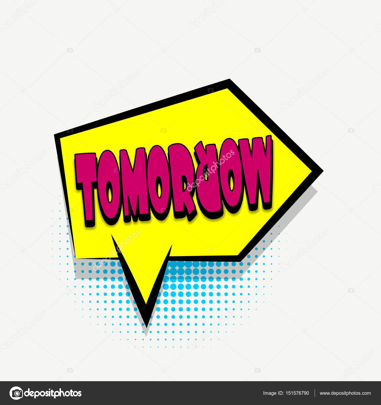 Plantilla de burbuja de texto libro cómico mañana — Archivo Imágenes ...