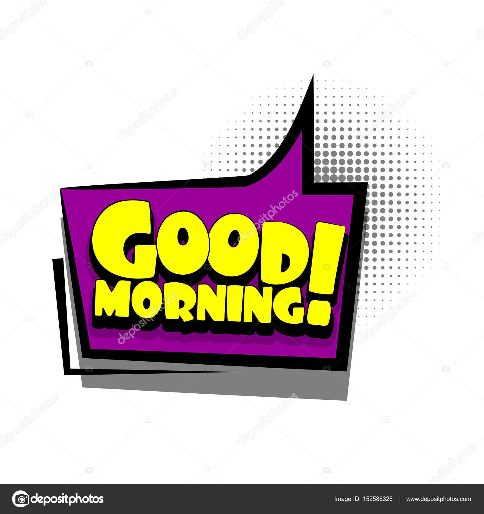 Komiks Chmurki Tekstu Reklamy Dzień Dobry Grafika