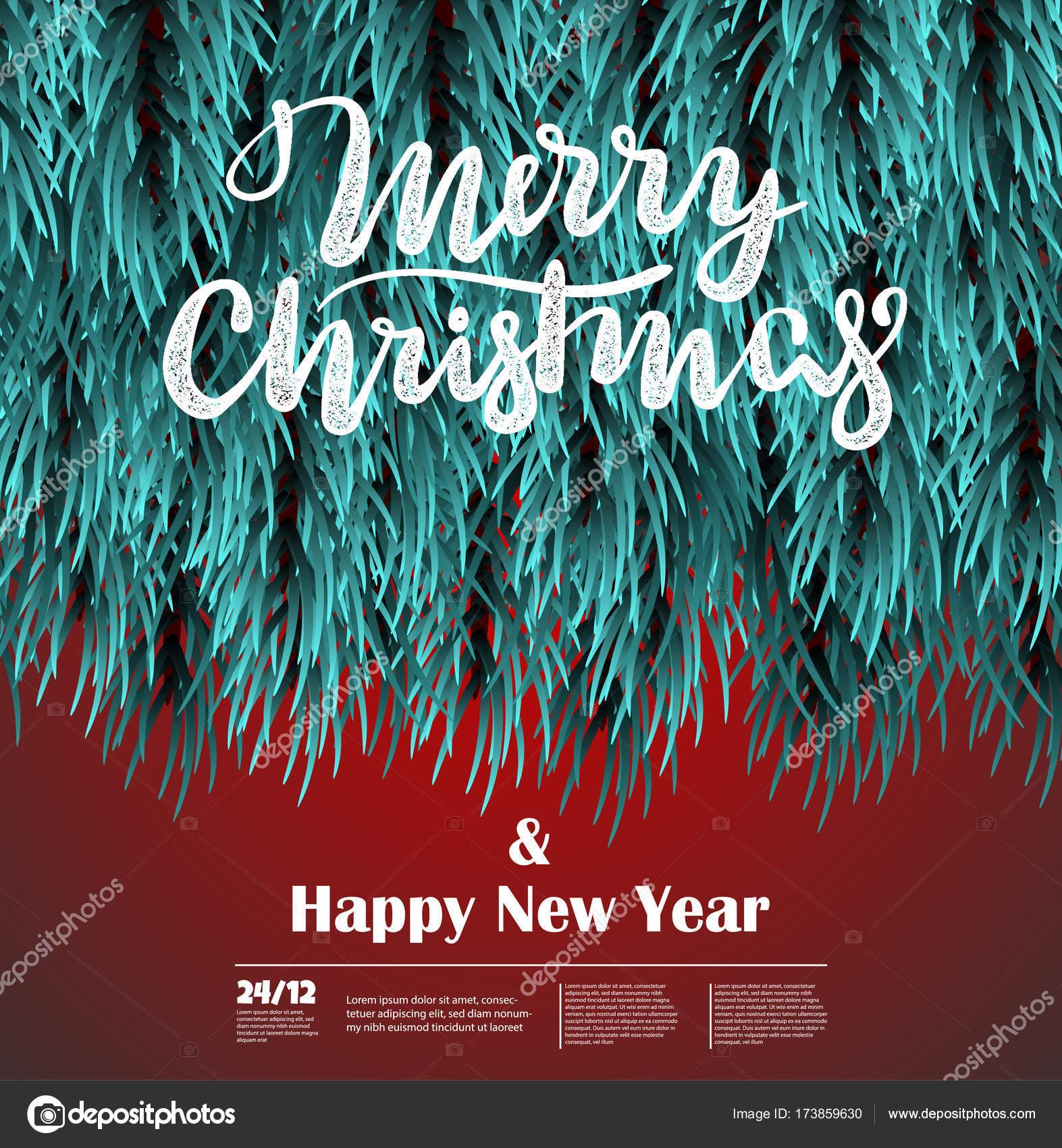 christmas fluffy tree template stock vector helen tosh 173859630
