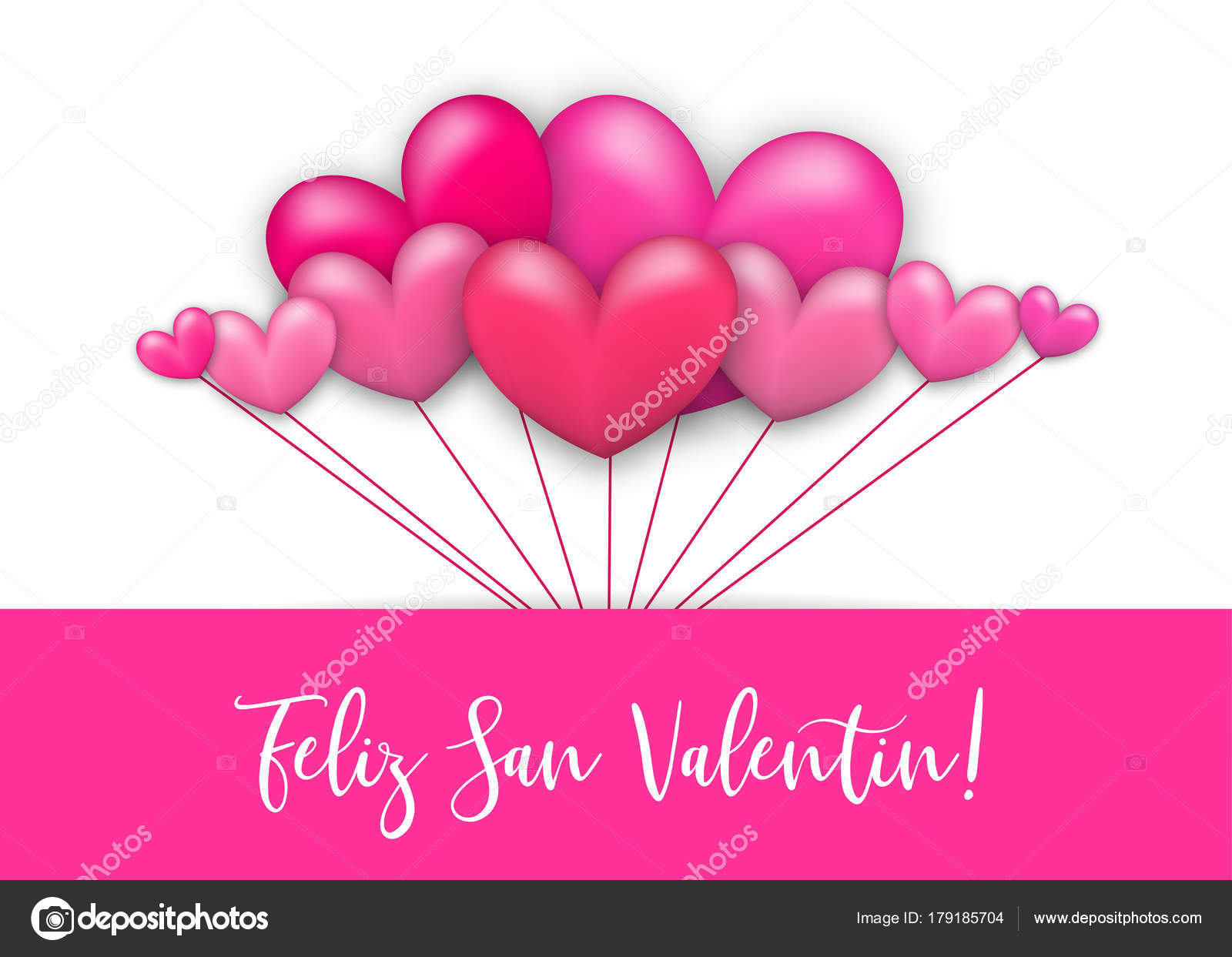 Happy Valentines Day Heart Greeting Card Stock Vector Helentosh