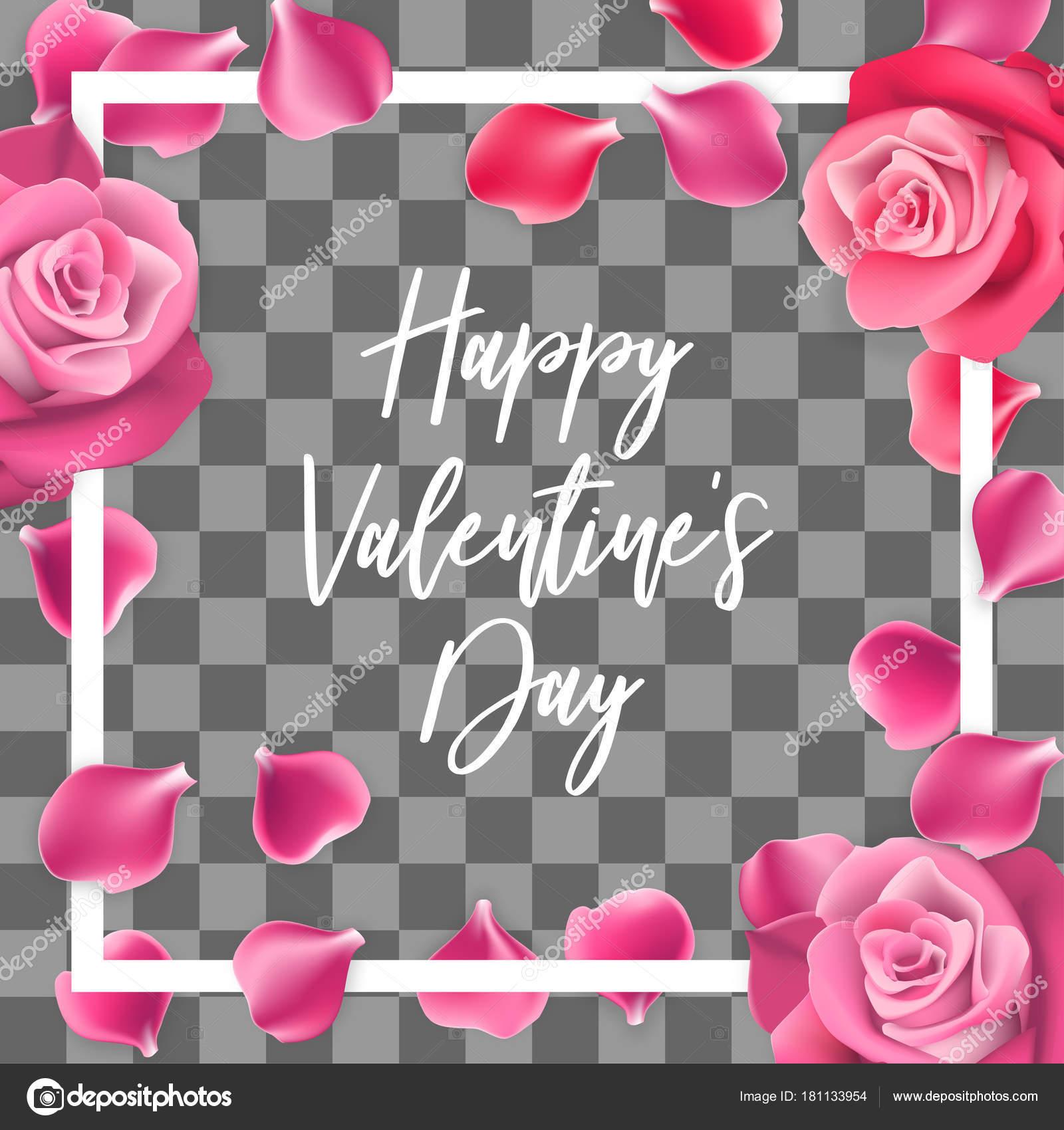 Rose Petals Happy Valentines Day Background Stock Vector C Helen