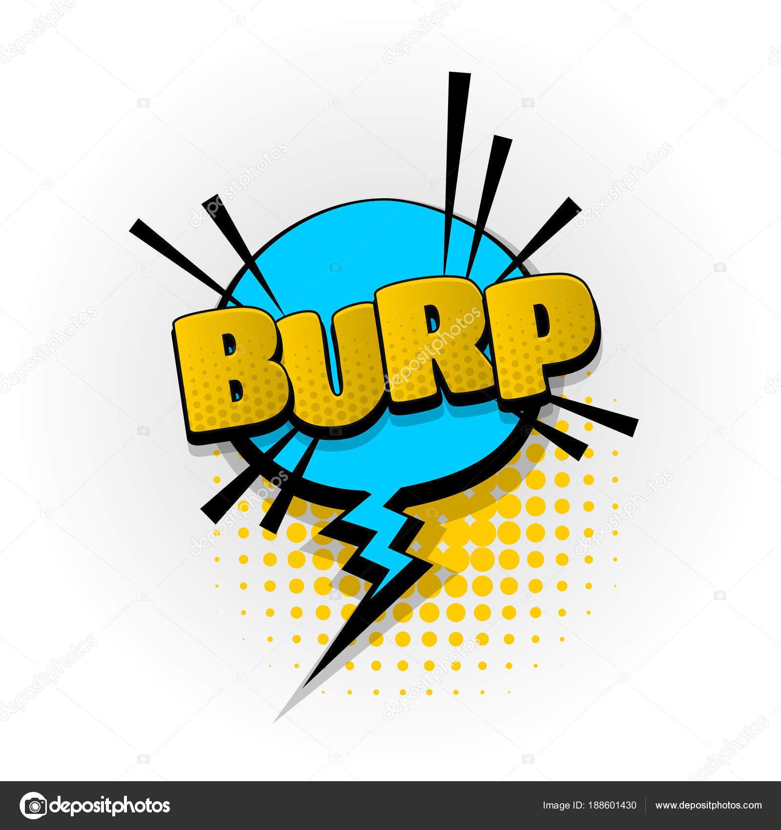 Burp parp sound comic book text pop art — Stock Vector