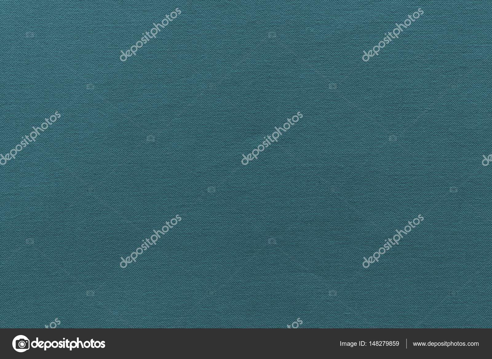 Texture And Background Of Rough Fabric Dark Turquoise Color Stock Photo