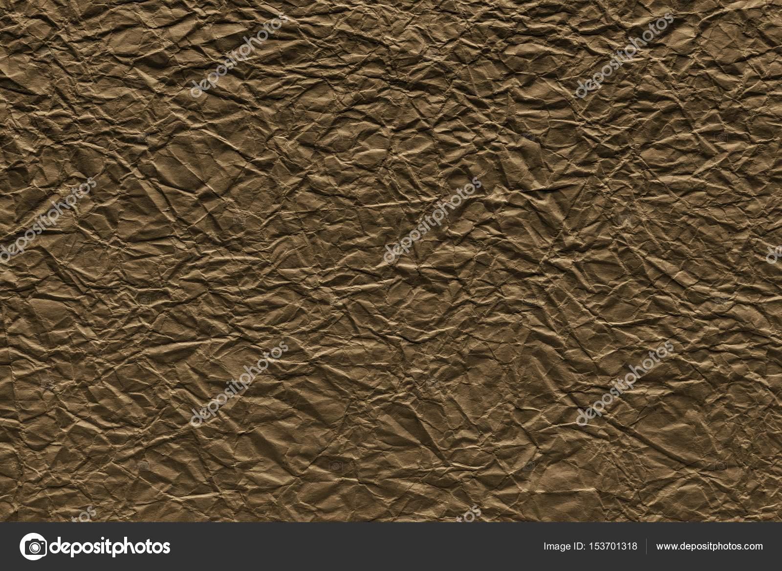 Hoja De Color Marron Arrugada Hoja De Papel De Color Marron - El-color-marron