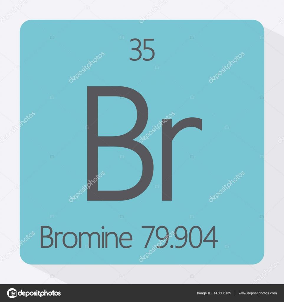 Symbol Of Bromine Stock Vector Branchecarica 143608139