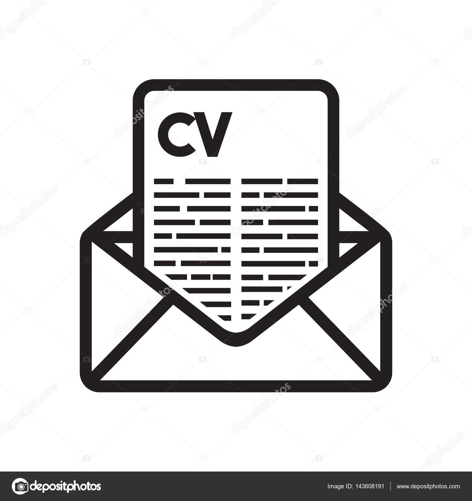 Concept D Envoyer Cv Image Vectorielle Branchecarica C 143608191