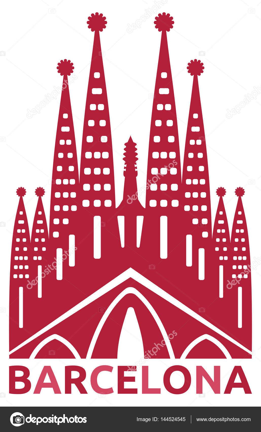 バルセロナのサグラダ ファミリア ゴシックカテドラル ストック