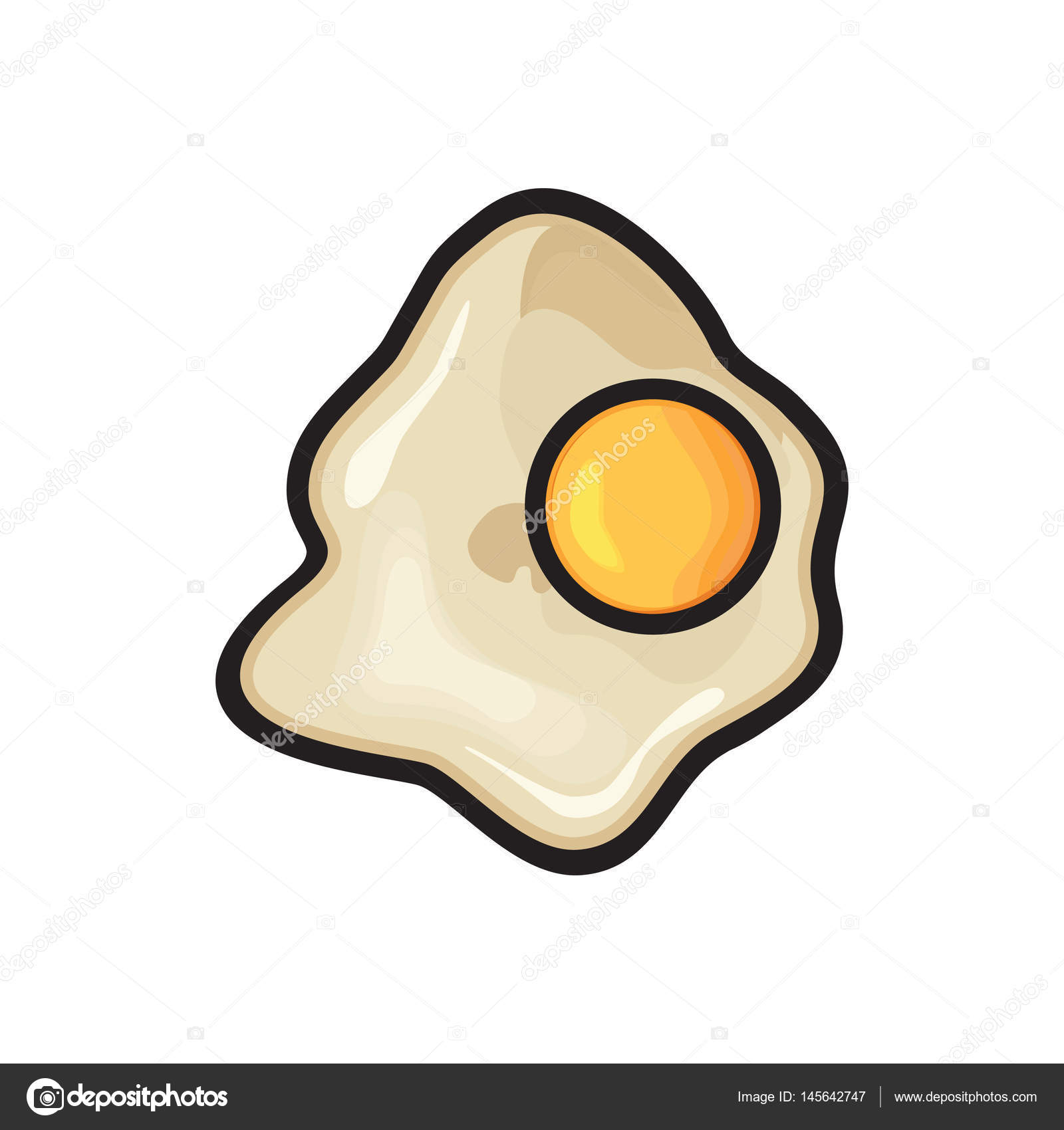 Poached Egg On A White Stock Vector C Branchecarica 145642747