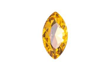 Shiny rhinestones isolated on white background, gemstone