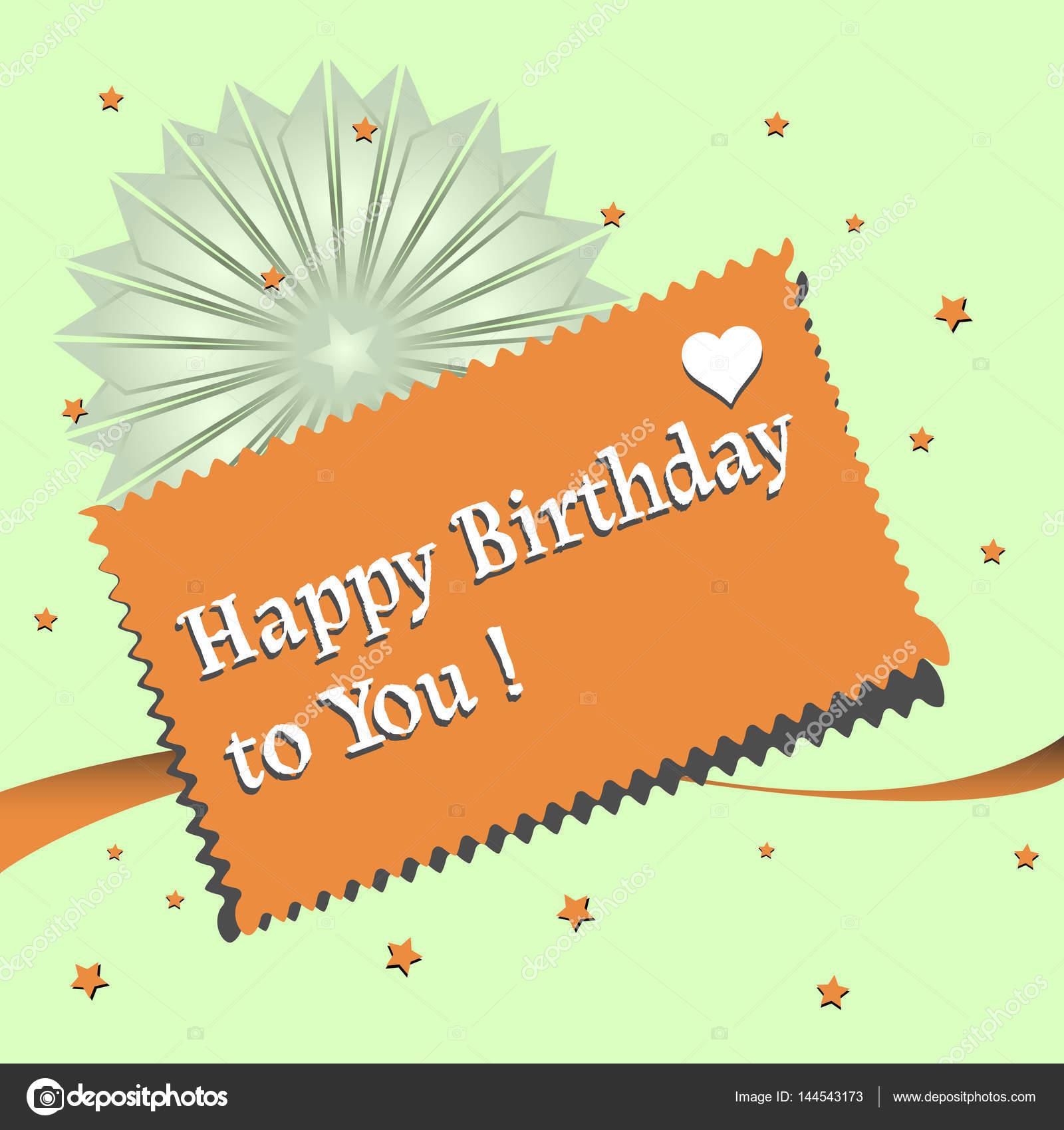 Fabulous Hartelijk gefeliciteerd met je verjaardag — Stockvector © oxlock  @TB-46