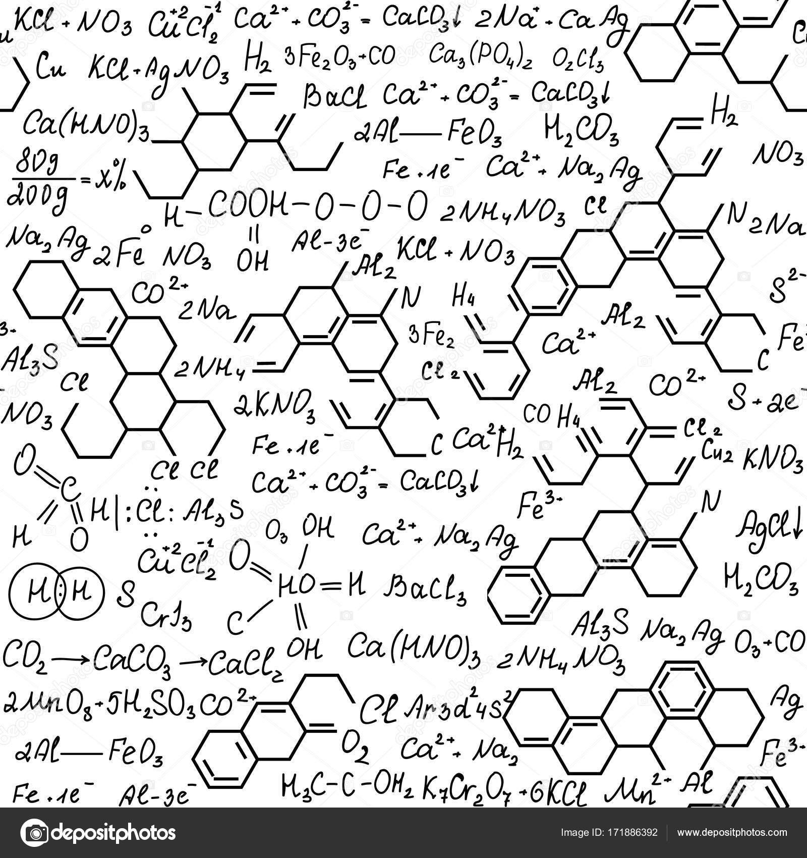 Chemie Biotechnologie Vektor Musterdesign Mit Formeln