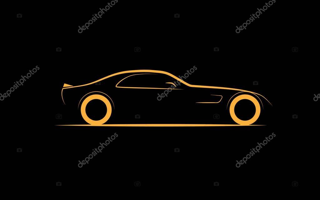 Coupe de voiture de sport silhouette stylis e image vectorielle kloromanam 141227812 - Dessin voiture stylisee ...