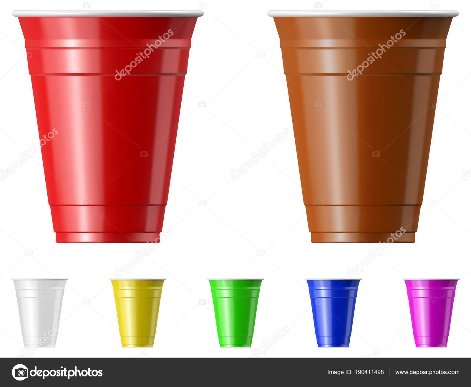 Imagenes Vasos De Plastico Juego De Vasos De Plastico Vector De