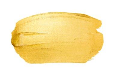 golden brush stroke