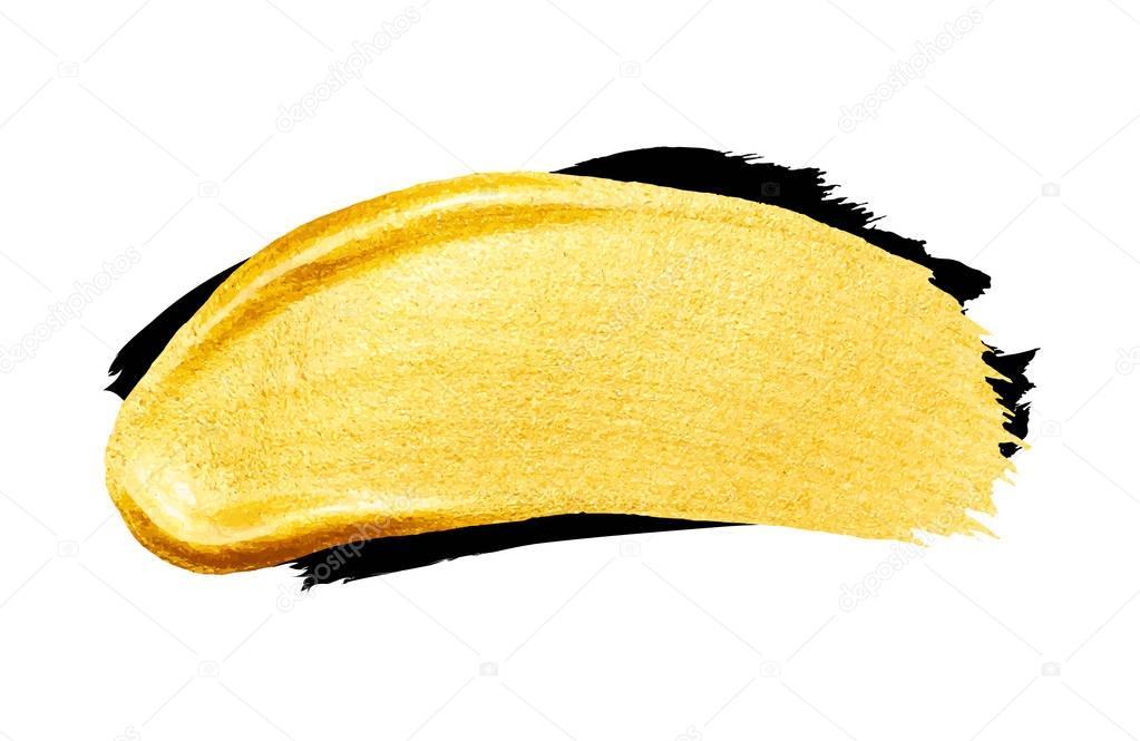 golden and black brush strokes
